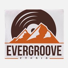 Evergroove Logo PNG Throw Blanket