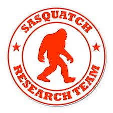 sasquatch research team red Round Car Magnet