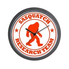 sasquatch research team red Wall Clock