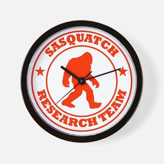 sasquatch research team red Wall Clock