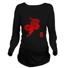 Asian Snake Long Sleeve Maternity T-Shirt