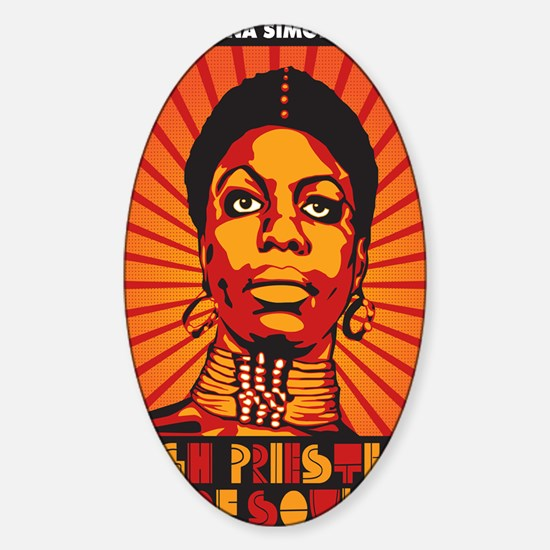 High Priestess of Soul Poster Sticker (Oval)