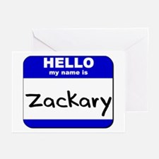 hello my name is zackary  Greeting Cards (Package