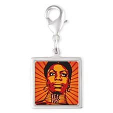 High Priestess of Soul Framed Silver Square Charm