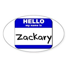 hello my name is zackary Oval Decal