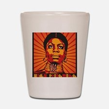 High Priestess of Soul Framed Print Shot Glass