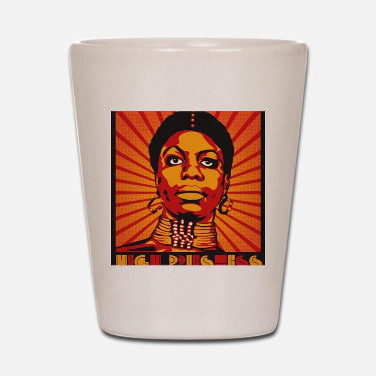High Priestess of Soul Framed Print Shot Glass