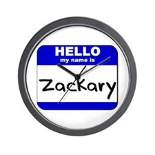hello my name is zackary  Wall Clock