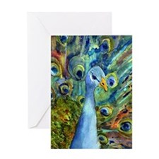 peacock party Greeting Card