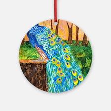 Peacock Pre-Dawn Round Ornament