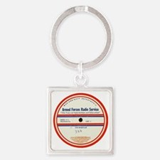 Armed Forces Radio Service Square Keychain