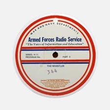 Armed Forces Radio Service Round Ornament