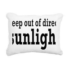 sunlightrectangle Rectangular Canvas Pillow