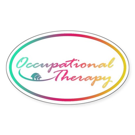 Occupational Therapy Oval Sticker