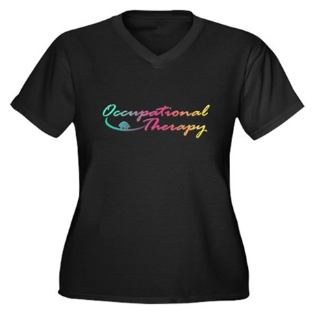 Occupational Therapy Women's Plus Size V-Neck Dark