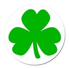 Three Leaf Clover Round Car Magnet