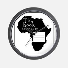 Africa Bookplate Wall Clock