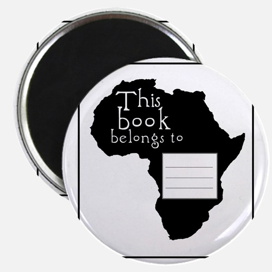 Africa Bookplate Magnet