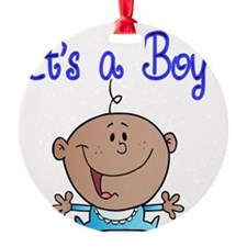 Its a Boy-Afro American Baby Boy Ornament