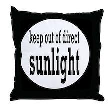 sunlightbutton Throw Pillow