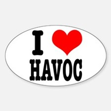 I Heart (Love) Havoc Oval Decal