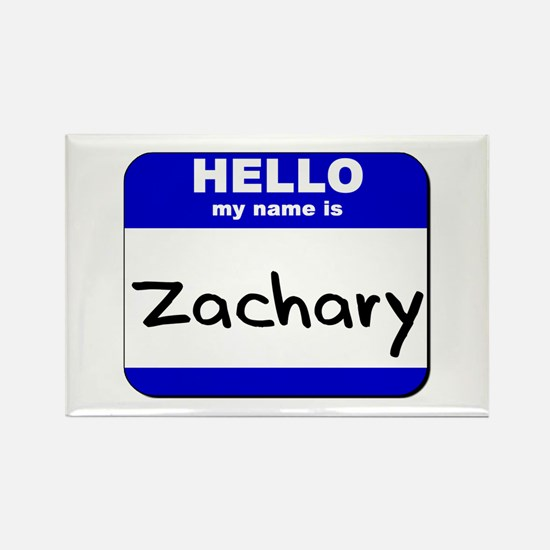 hello my name is zachary Rectangle Magnet
