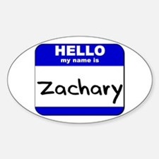hello my name is zachary Oval Decal