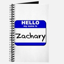 hello my name is zachary Journal