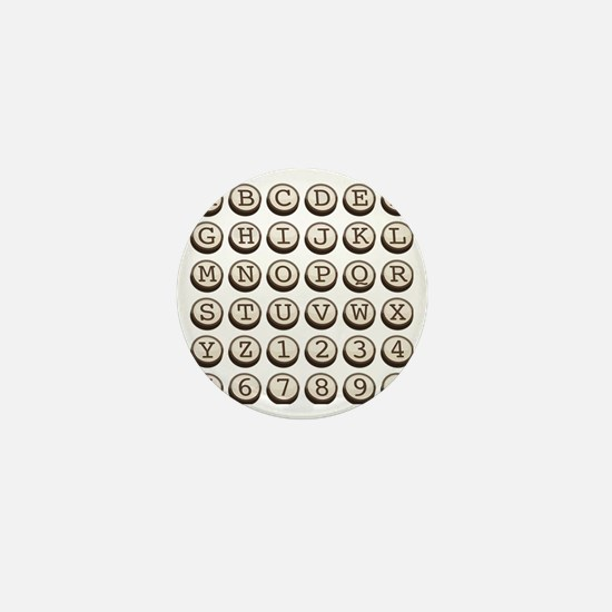 Old Fashioned Typewriter Keys Mini Button