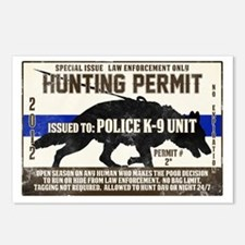 K9 Hunting Permit Postcards (Package of 8)