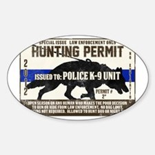 K9 Hunting Permit Decal