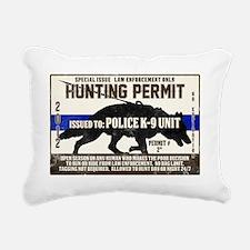 K9 Hunting Permit Rectangular Canvas Pillow