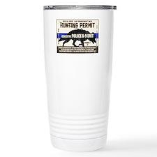 K9 Hunting Permit Travel Mug