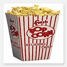 "popcorn Square Car Magnet 3"" x 3"""