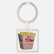 popcorn Square Keychain