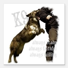 "K9 Always ready Square Car Magnet 3"" x 3"""