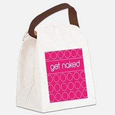 pink dot Canvas Lunch Bag