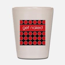 red black dot Shot Glass