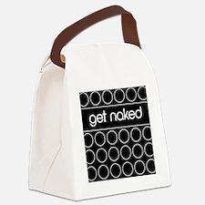 Black Dot Canvas Lunch Bag
