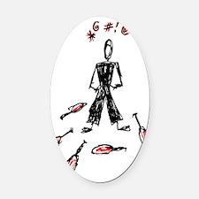 TJS clubshirt back Oval Car Magnet