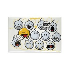 Bombs Smiley Rectangle Magnet