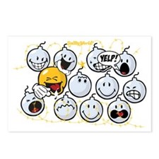 Bombs Smiley Postcards (Package of 8)