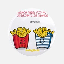"french fries smiley 3.5"" Button"