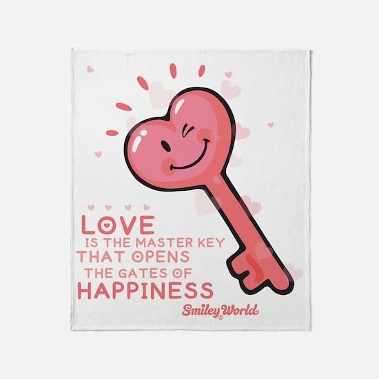 key smiley Throw Blanket