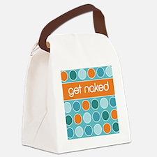 blue multidot Canvas Lunch Bag