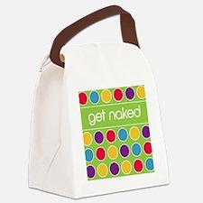 Green multi dot Canvas Lunch Bag