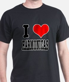 I Heart (Love) Harmonicas T-Shirt