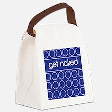 Blue dot Canvas Lunch Bag