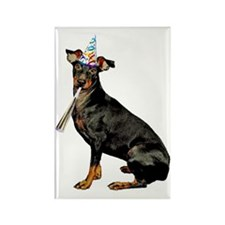 Manchester Terrier Party Rectangle Magnet
