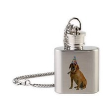 Yellow Lab Party Flask Necklace